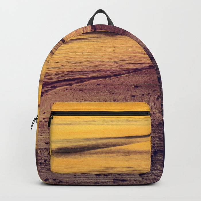 Golden Sunset at Beach Backpack