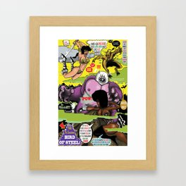 Space Chick & Nympho: Vampire Warrior Party Girl Comix #2 - Comic Book Cover Framed Art Print