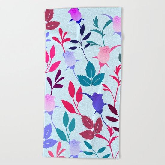 Flower Pattern III Beach Towel