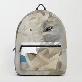 Low Poly Wolf Backpack