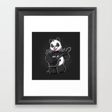 Heavy Metal Panda Framed Art Print