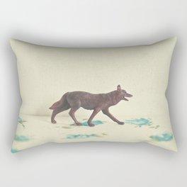 Wandering Wolf Rectangular Pillow