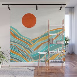 Abstract Sunset Landscape II Wall Mural