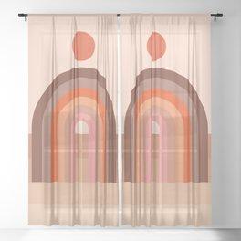 Abstraction_SUN_Rainbow_Minimalism_002 Sheer Curtain