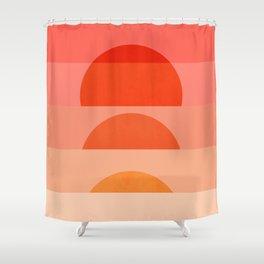Abstraction_SUNRISE_Minimalism_ART_001 Shower Curtain