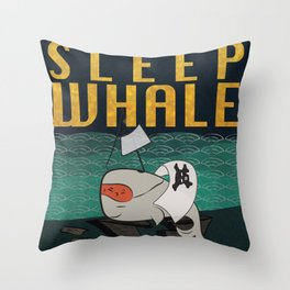 Sleep Whale Throw Pillow