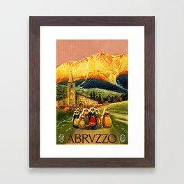 Vintage Abruzzo Italy Travel Framed Art Print