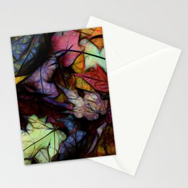 Fall leaves Abstract Stationery Cards