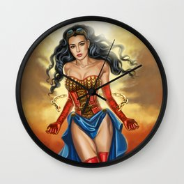 Steampunk WonderWoman Wall Clock
