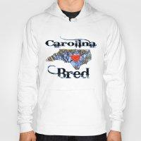 north carolina Hoodies featuring North Carolina Bred by Just Bailey Designs