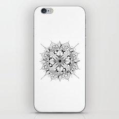 Mandala Art, India, Geometric, Tribal Art, Black and white iPhone & iPod Skin