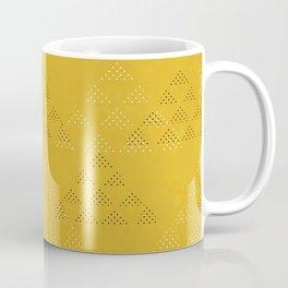 Polka Pyramids: Mustard Coffee Mug
