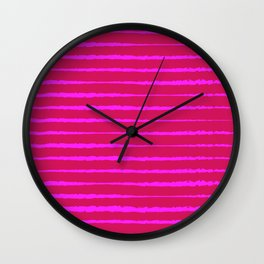 Abstract Zebra — Pink Wall Clock