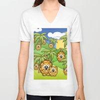 lions V-neck T-shirts featuring Little Lions. by Digi Treats 2
