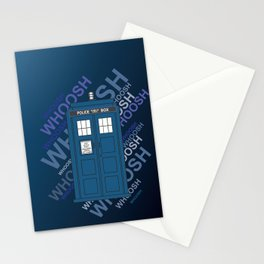 Tardis Whoosh sound Doctor Who Stationery Cards