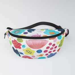 Watercolour Blooms Fanny Pack