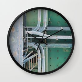 industrial pastels 2 Wall Clock