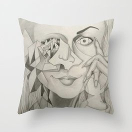 The Window to Her Soul is Broken Throw Pillow
