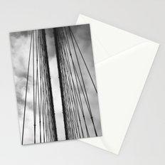 New York - Brooklyn Bridge, Black and White Stationery Cards