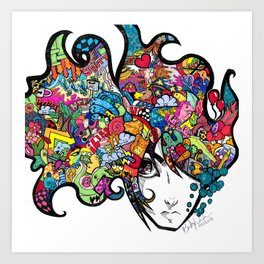 hair Art Print