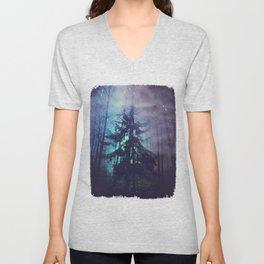 luminous forest Unisex V-Neck