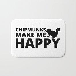 Chipmunks make me happy - black edition Bath Mat