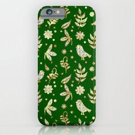 Diamonds birds and flowers iPhone Case