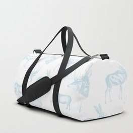 Woodland Critters in Winter Blue Duffle Bag