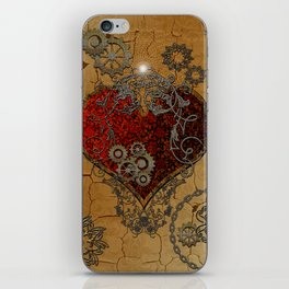 Steampunk, awesome heart iPhone Skin
