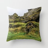hobbit Throw Pillows featuring Hobbit House by Alex Tonetti Photography