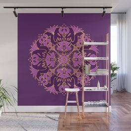 Lotus Mandala - Purple and Gold Wall Mural