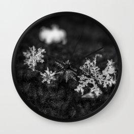 Clump of snowflakes Wall Clock