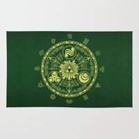 zelda Area & Throw Rugs featuring Zelda Triforce  by DavinciArt