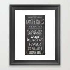 Family Rules  Framed Art Print