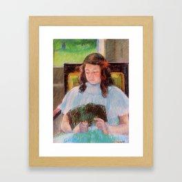 Girl Reading by Mary Cassatt Framed Art Print