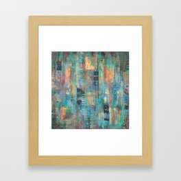 """PATINA"" Original Painting by Cyd Rust Framed Art Print"