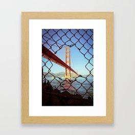 Golden Gate Bridge - SF. Framed Art Print