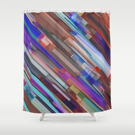Abstract Composition 708 Shower Curtain