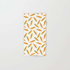 CARROT CARROTS VEGGIE FOOD PATTERN Hand & Bath Towel