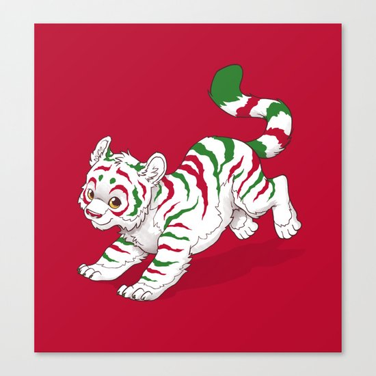 Candy Tiger Canvas Print
