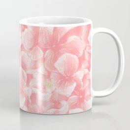 Hand painted coral white faux gold watercolor floral Coffee Mug