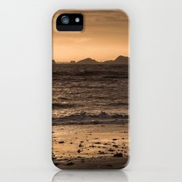 Swansea bay and Mumbles lighthouse iPhone Case