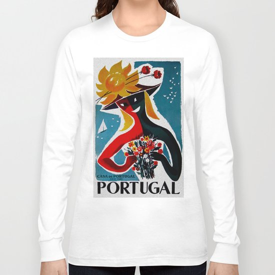 Portugal - Vintage Travel Long Sleeve T-shirt