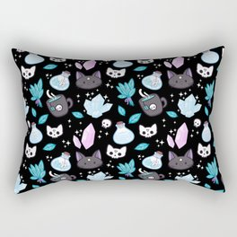 Herb Witch // Black Rectangular Pillow