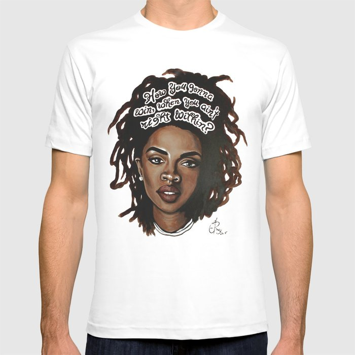 e29e97ab Lauryn Hill T-shirt by cray | Society6