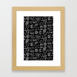 Conspiracy pattern (Censored version) Framed Art Print