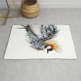 Funky bird watercolor Rug