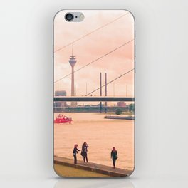 Fotoshooting Duesseldorf by the rhine iPhone Skin