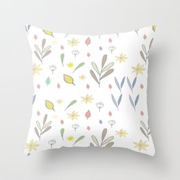 Spring Babies Throw Pillow