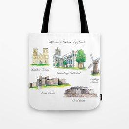 Historical Kent, England Tote Bag